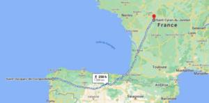Itinéraire Saint Cyran - Saint Jacques de Compostelle