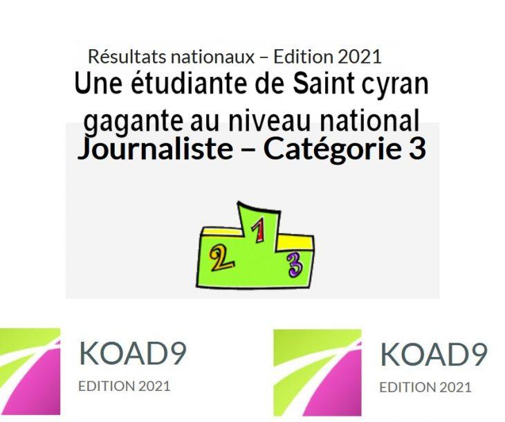 Les gagnants du concours KOAD9